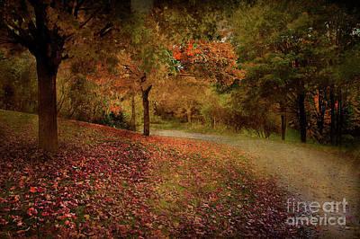 Autumn Walk Poster by Elaine Manley