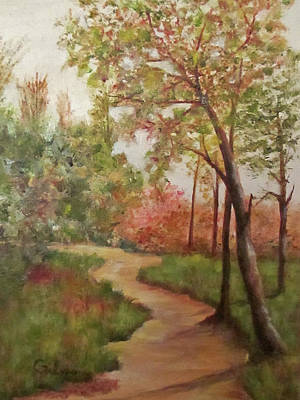 Poster featuring the painting Autumn Walk by Roseann Gilmore