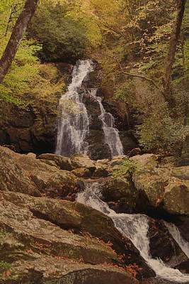 Autumn Waterfall In The Great Smoky Mountains Poster