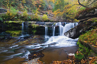 Poster featuring the photograph Autumn Waterfall by Steve Stuller