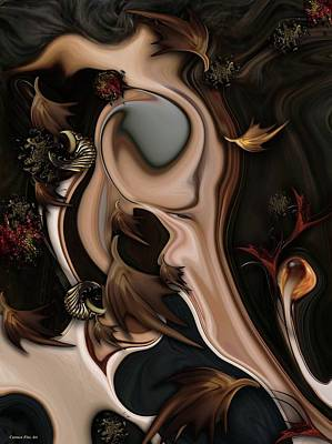 Poster featuring the digital art Autumnal Material by Carmen Fine Art