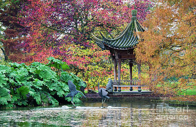 Autumnal Pagoda Poster