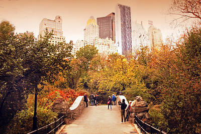 Autumn At Gapstow Bridge Poster