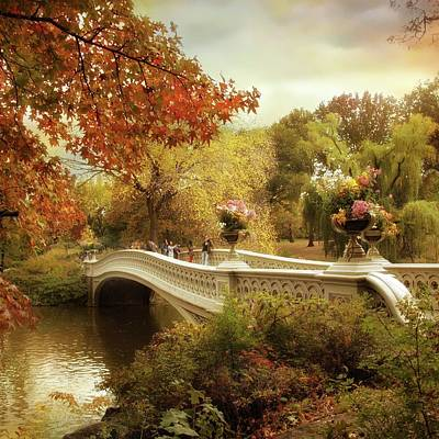 Autumn's Arrival At Bow Bridge Poster by Jessica Jenney