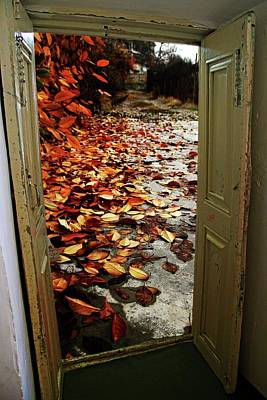 Autumn's Door Poster by Nahid Nobari