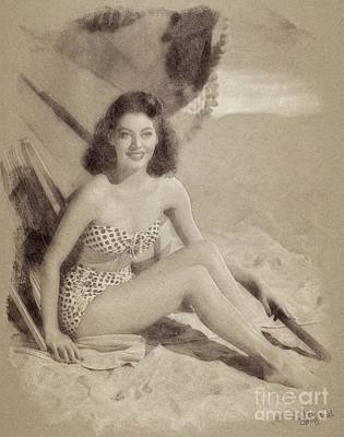 Ava Gardner, Vintage Hollywood Actress And Pinup Poster