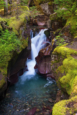 Poster featuring the photograph Avalanche Gorge 4 by Gary Lengyel