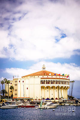 Avalon Casino Catalina Island Vertical Picture Poster by Paul Velgos