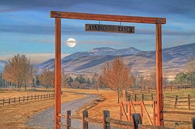 Avansino Ranch Poster by Donna Kennedy