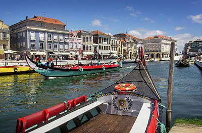 Aveiro Moliceiro Boat Poster by Carlos Caetano