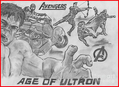 Avengers Age Of Ultron Poster by Chris  DelVecchio