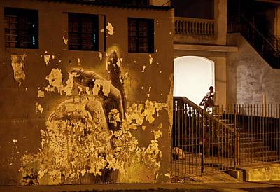 Poster featuring the photograph Avenue De Los Presidentes Havana Cuba by Charles Harden