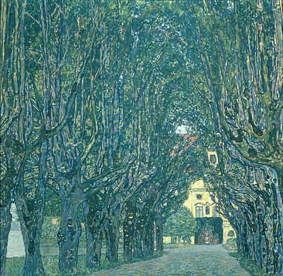 Avenue In The Park Of Schloss Kammer Poster by Gustav Klimt