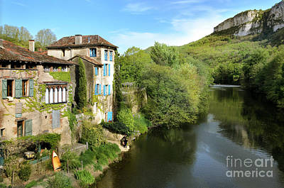 Aveyron River In Saint-antonin-noble-val Poster