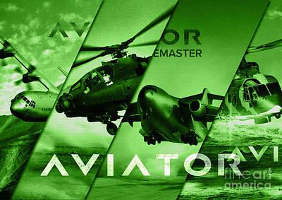 Aviator Aircraft Poster by Fernando Miranda