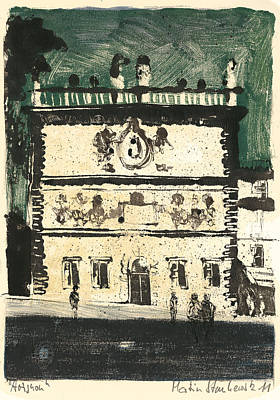 Poster featuring the painting Avignon Historic Building by Martin Stankewitz