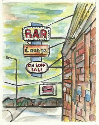 Avoca Bar Poster by Matt Gaudian