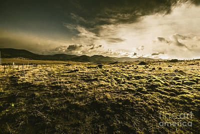 Avoca Fields And Mountains Poster by Jorgo Photography - Wall Art Gallery