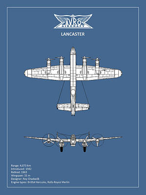 Avro Lancaster Poster by Mark Rogan