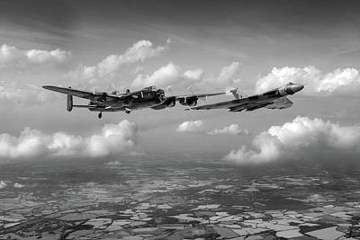 Poster featuring the photograph Avro Sisters Bw Version by Gary Eason