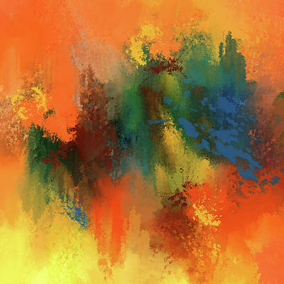 Awakening The Inner Self Abstract Poster