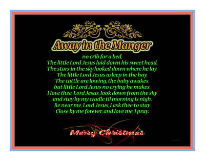 Away In The Manger Poster by John H Parker