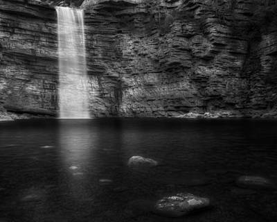 Awosting Falls Black And White Poster