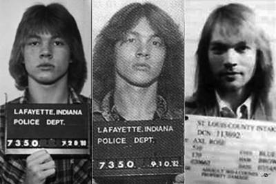 Axl Rose Mug Shots Through The Years Horizontal Photo Poster