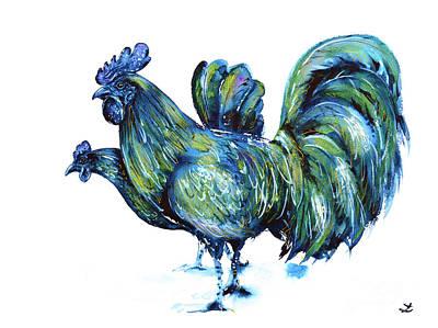 Ayam Cemani Pair Poster