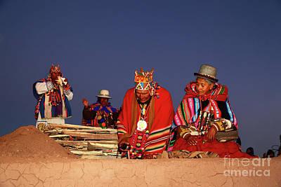 Aymara New Year Ceremonies Bolivia Poster