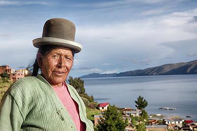 Aymara Women With Traditional Hat Poster by Dirk Ercken