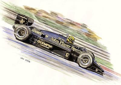 Ayrton Senna 1985 Poster