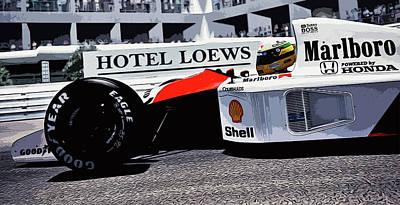 Ayrton Senna - Montecarlo Poster
