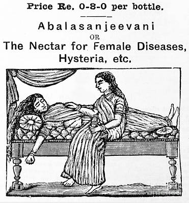 Ayurvedic Medicine, Female Hysteria Poster by Wellcome Images