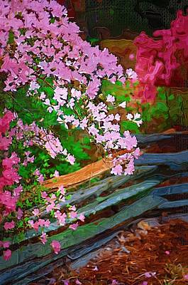 Poster featuring the photograph Azaleas Over The Fence by Donna Bentley