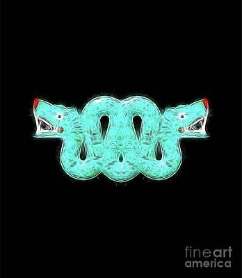 Aztec Snake By Raphael Terra Poster