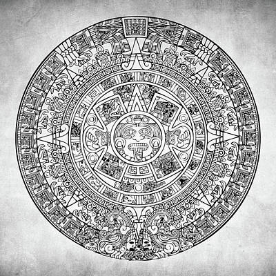 Aztec Sun Poster by Taylan Apukovska