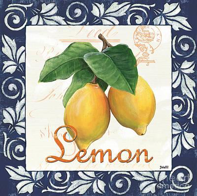 Azure Lemon 1 Poster by Debbie DeWitt
