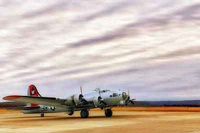 Poster featuring the photograph B-17 Aluminum Overcast - Bomber - Cantrell Field by Jason Politte