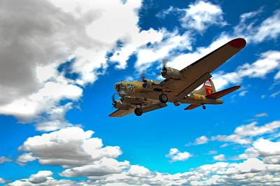 B-17 Approach Poster by Jim Harris