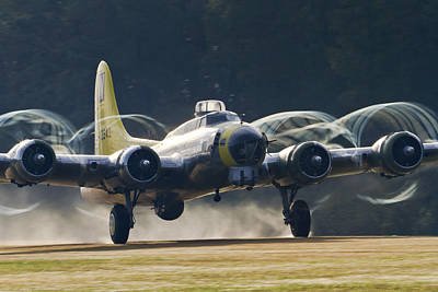 B-17 Chuckie Taking Off Poster