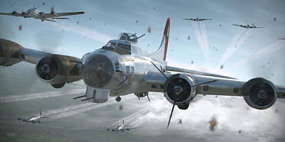 B-17g Hikin' For Home - Painterly Poster
