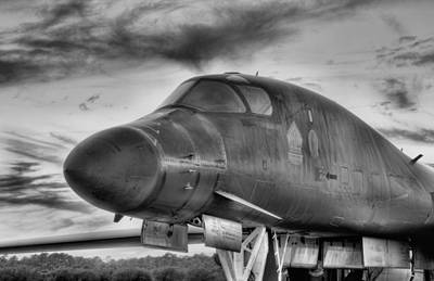 B-1b Heavy Black And White Poster