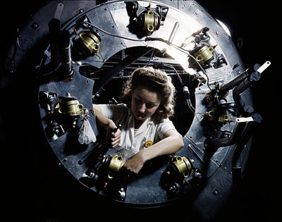 B-25 Bomber Production 1942 Poster by Daniel Hagerman