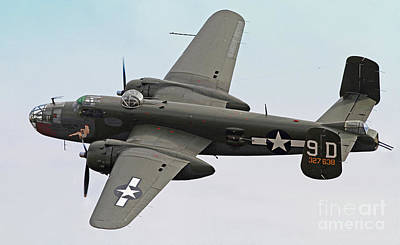 B-25 Mitchell Bomber Aircraft Poster