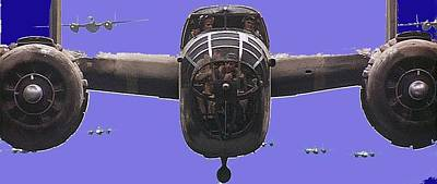 B 25s In Formation  Publicity Photo Catch 22 Guaymas Mexico 1970 Color Added 2016 Poster by David Lee Guss