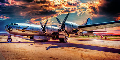 Poster featuring the photograph B-29 by Steve Benefiel
