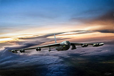 B-52 Inbound Poster by Peter Chilelli