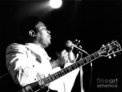 B B King 1978 Poster by Chris Walter