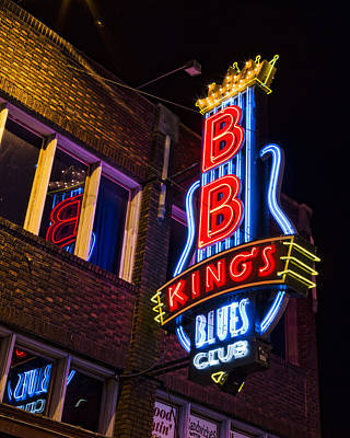 B B Kings On Beale Street Poster by Stephen Stookey